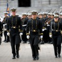 The Brigade of Midshipmen is led by upperclass midshipman.