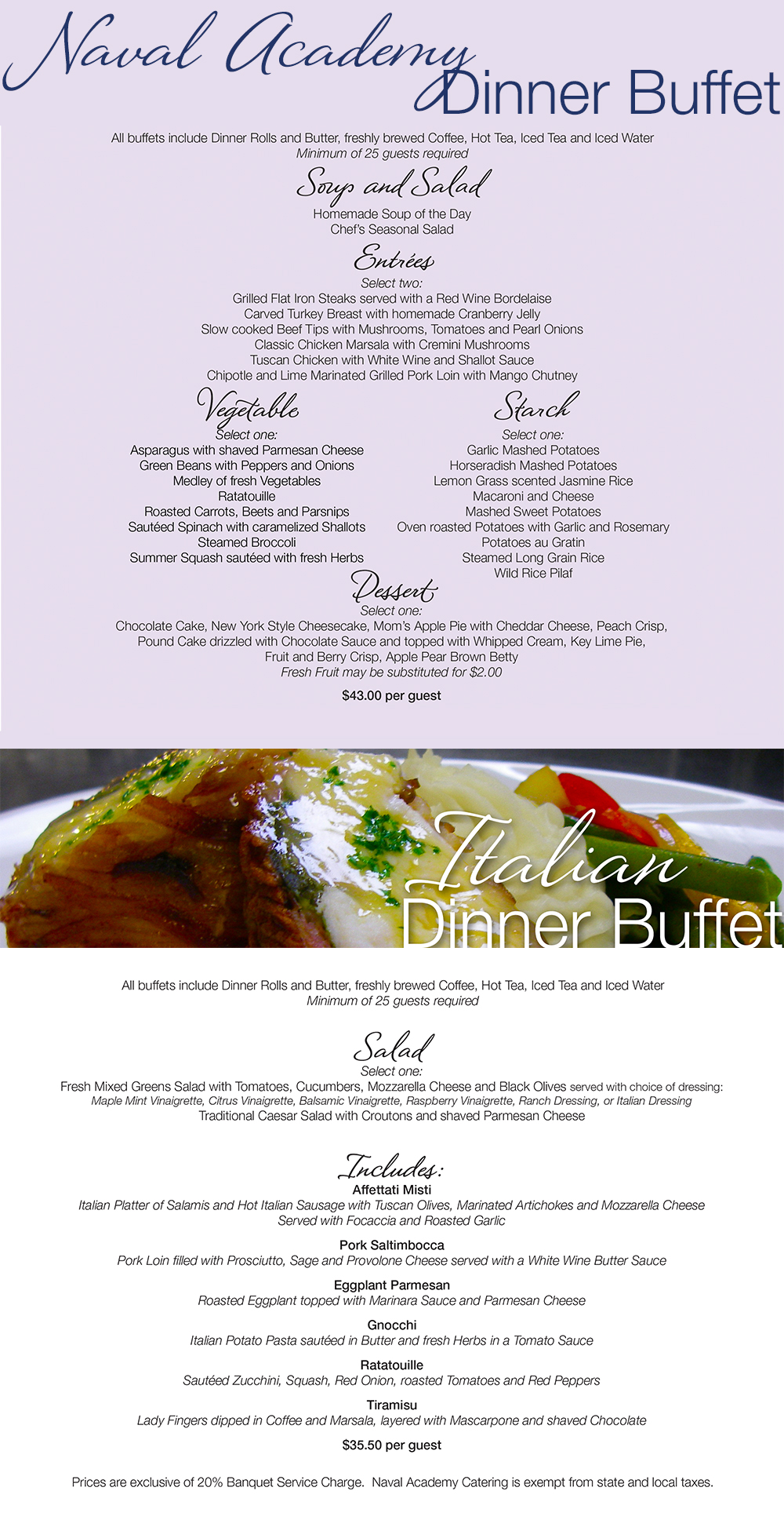 Dinner Buffet Selections 1000px