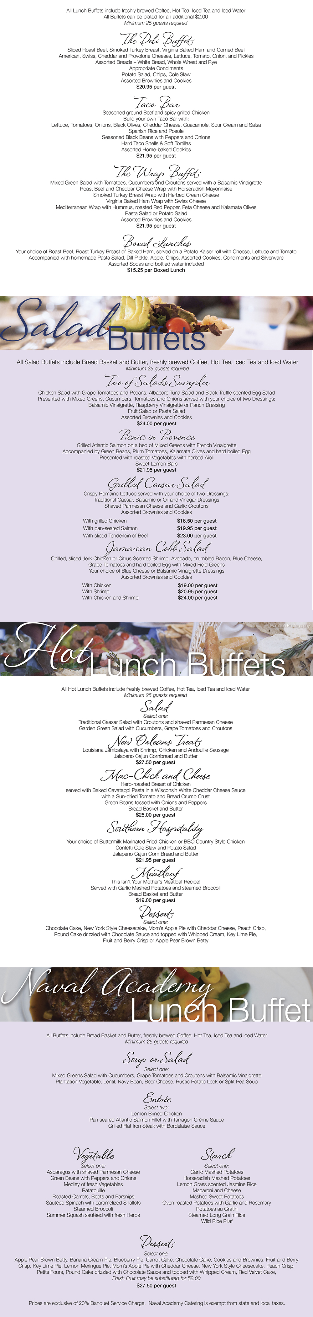 Lunch Buffets Selections 1000px