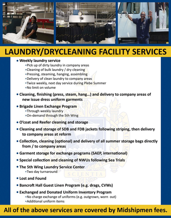 Laundry Midshipmen Fees